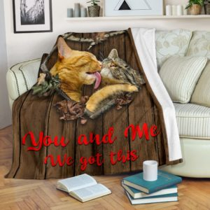 You and Me - Cat Couple Blanket@_shoppingmylife_fmcnka789@premium-blanket You And Me - Cat Couple Blanket Fleece Blanket, Personalized Gifts, Custom Blanket 586099