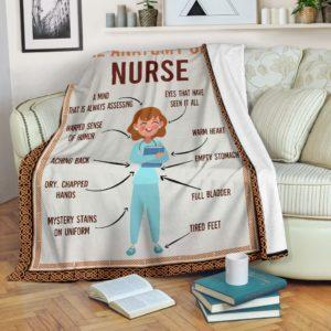 Anatomy Of Nurse - Blanket@_shoppingmylife_wqeewfdslkshf@premium-blanket Anatomy Of Nurse - Blanket Fleece Blanket, Personalized Gifts, Custom Blanket 586073
