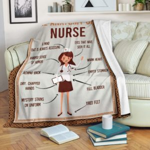 Anatomy Of Nurse - Blanket@_shoppingmylife_sfdfsdfvcxrg@premium-blanket Anatomy Of Nurse - Blanket Fleece Blanket, Personalized Gifts, Custom Blanket 585969