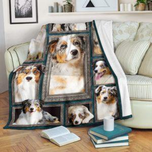 Blanket - Dogs - 3D Australian Shepherd@_weecreate4u_as3b@premium-blanket Blanket - Dogs - 3D Australian Shepherd Fleece Blanket, Personalized Gifts, Custom Blanket 585485