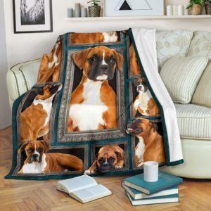 Blanket - Dogs - 3D Fawn Boxer@_weecreate4u_fb3b@premium-blanket Blanket - Dogs - 3D Fawn Boxer Fleece Blanket, Personalized Gifts, Custom Blanket 585472