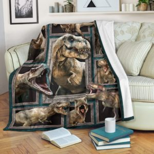 Blanket - Animals - 3D Dinosaur@_weecreate4u_din3b@premium-blanket Blanket - Animals - 3D Dinosaur Fleece Blanket, Personalized Gifts, Custom Blanket 585433