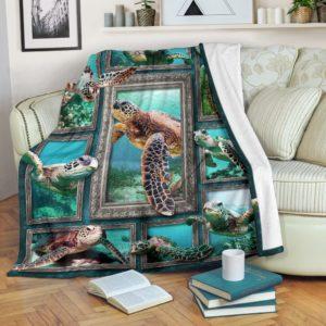 Blanket - Animals - 3D Sea Turtle@_weecreate4u_stu3b@premium-blanket Blanket - Animals - 3D Sea Turtle Fleece Blanket, Personalized Gifts, Custom Blanket 584979