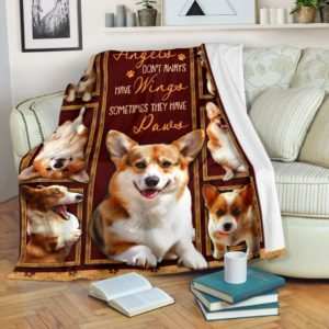 Blanket - Dog - Corgi Angels@_weecreate4u_corang@premium-blanket Blanket - Dog - Corgi Angels Fleece Blanket, Personalized Gifts, Custom Blanket 584953