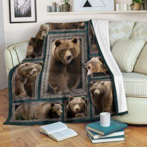 Blanket - Animals - 3D Bear@_weecreate4u_bea3b@premium-blanket Blanket - Animals - 3D Bear Fleece Blanket, Personalized Gifts, Custom Blanket 584940