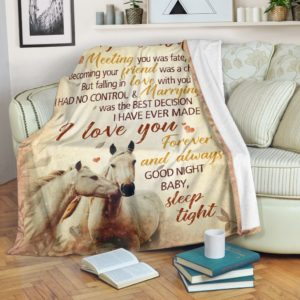 Blanket - Horse - To My Gorgeous Wife@_weecreate4u_horgorg@premium-blanket Blanket - Horse - To My Gorgeous Wife Fleece Blanket, Personalized Gifts, Custom Blanket 584915