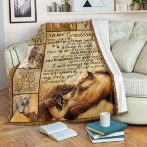 Blanket - Horse - To my granddaughter@_weecreate4u_togdho@premium-blanket Blanket - Horse - To My Granddaughter Fleece Blanket, Personalized Gifts, Custom Blanket 584876