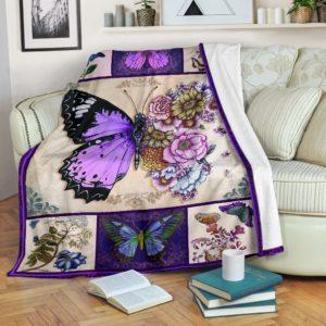 Blanket - Butterfly - Flower Butterfly@_weecreate4u_flowbut@premium-blanket Blanket - Butterfly - Flower Butterfly Fleece Blanket, Personalized Gifts, Custom Blanket 584850