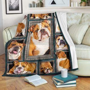Blanket - Dogs - 3D English Bulldog@_weecreate4u_eb3b@premium-blanket Blanket - Dogs - 3D English Bulldog Fleece Blanket, Personalized Gifts, Custom Blanket 584733