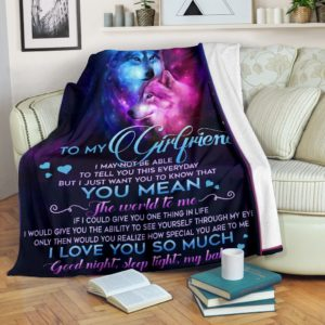 Blanket - Animals - To my girlfriend Wolf@_weecreate4u_girwol@premium-blanket Blanket - Animals - To My Girlfriend Wolf Fleece Blanket, Personalized Gifts, Custom Blanket 584668