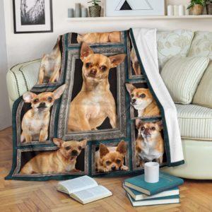 Blanket - Dogs - 3D Chihuahua@_weecreate4u_ch3b@premium-blanket Blanket - Dogs - 3D Chihuahua Fleece Blanket, Personalized Gifts, Custom Blanket 584500