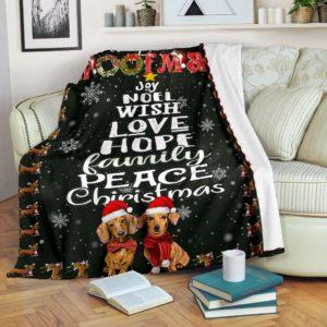 Blanket - Dachshund - Merry Woofmas@_weecreate4u_woofmas@premium-blanket Blanket - Dachshund - Merry Woofmas Fleece Blanket, Personalized Gifts, Custom Blanket 584435