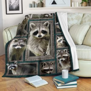 Blanket - Animals - 3D Raccoon@_weecreate4u_rac3b@premium-blanket Blanket - Animals - 3D Raccoon Fleece Blanket, Personalized Gifts, Custom Blanket 584370