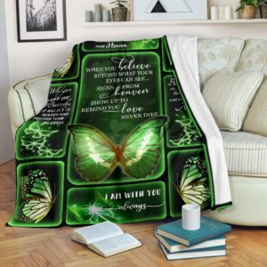 Butterflies - When you believe blanket@_weecreate4u_believe@premium-blanket Butterflies - When You Believe Blanket Fleece Blanket, Personalized Gifts, Custom Blanket 584344