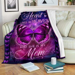 Blanket - Butterfly - A Big Piece of my Heart - Mom ver.@_weecreate4u_bigpmom@premium-blanket Blanket - Butterfly - A Big Piece Of My Heart - Mom Ver. Fleece Blanket, Personalized Gifts, Custom Blanket 584266
