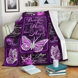 Blanket - Butterfly - Kisses of Angels@_weecreate4u_kishea@premium-blanket Blanket - Butterfly - Kisses Of Angels Fleece Blanket, Personalized Gifts, Custom Blanket 584214