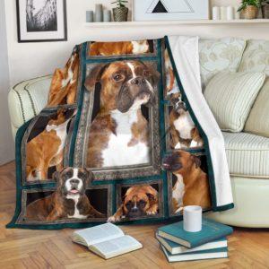 Blanket - Dogs - 3D Boxer@_weecreate4u_bx3b@premium-blanket Blanket - Dogs - 3D Boxer Fleece Blanket, Personalized Gifts, Custom Blanket 584175