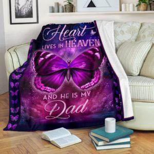 Blanket - Butterfly - A Big Piece of my Heart - Dad ver.@_weecreate4u_bigpdad@premium-blanket Blanket - Butterfly - A Big Piece Of My Heart - Dad Ver. Fleece Blanket, Personalized Gifts, Custom Blanket 584059