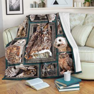 Blanket - Animals - 3D OWL@_weecreate4u_owl3b@premium-blanket Blanket - Animals - 3D Owl Fleece Blanket, Personalized Gifts, Custom Blanket 583800