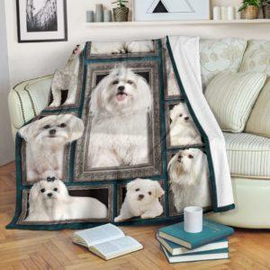 Blanket - Dogs - 3D Maltese@_weecreate4u_mal3b@premium-blanket Blanket - Dogs - 3D Maltese Fleece Blanket, Personalized Gifts, Custom Blanket 583761