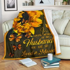 Blanket - Butterfly - Loved and Missed@_weecreate4u_sunhus@premium-blanket Blanket - Butterfly - Loved And Missed Fleece Blanket, Personalized Gifts, Custom Blanket 583657