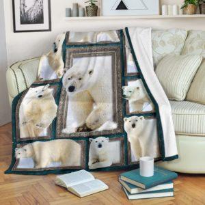 Blanket - Animals - 3D Polar bear@_weecreate4u_plb3b@premium-blanket Blanket - Animals - 3D Polar Bear Fleece Blanket, Personalized Gifts, Custom Blanket 583553
