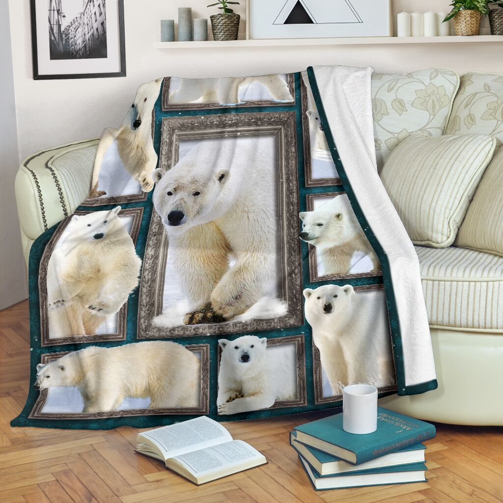 Blanket - Animals - 3D Polar bear@_weecreate4u_plb3b@premium-blanket Blanket - Animals - 3D Polar Bear Fleece Blanket, Personalized Gifts, Custom Blanket 583553