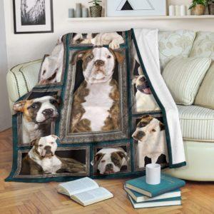 Blanket - Dogs - 3D American bulldog@_weecreate4u_abu3b@premium-blanket Blanket - Dogs - 3D American Bulldog Fleece Blanket, Personalized Gifts, Custom Blanket 583501