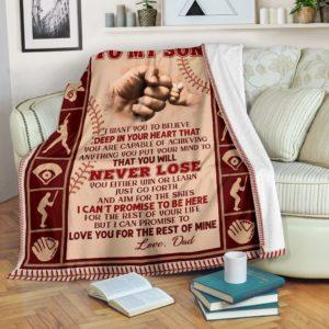 Blanket - Baseball - To My Son@_weecreate4u_basson@premium-blanket Blanket - Baseball - To My Son Fleece Blanket, Personalized Gifts, Custom Blanket 583475