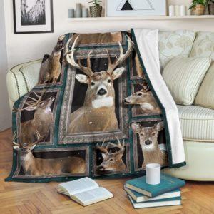 Blanket - Animals - 3D Deer@_weecreate4u_dee3b@premium-blanket Blanket - Animals - 3D Deer Fleece Blanket, Personalized Gifts, Custom Blanket 583332