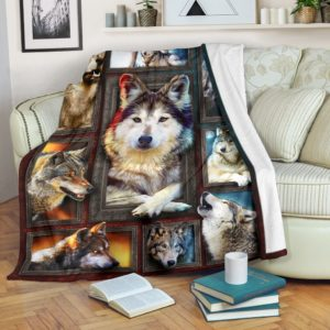 Blanket - Animals - 3D Wolf@_weecreate4u_wo3b@premium-blanket Blanket - Animals - 3D Wolf Fleece Blanket, Personalized Gifts, Custom Blanket 583293