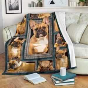 Blanket - Dogs - 3D Brown French Bulldog@_weecreate4u_bfb3b@premium-blanket Blanket - Dogs - 3D Brown French Bulldog Fleece Blanket, Personalized Gifts, Custom Blanket 583267