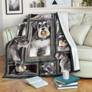Blanket - Dogs - 3D Schnauzer@_weecreate4u_sc3b@premium-blanket Blanket - Dogs - 3D Schnauzer Fleece Blanket, Personalized Gifts, Custom Blanket 583163