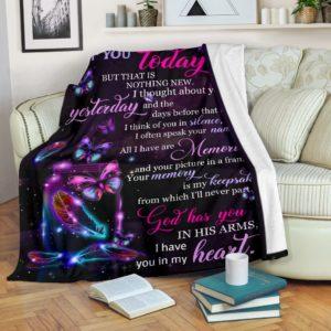 Blanket - Butterfly - I thought of you@_weecreate4u_butthou@premium-blanket Blanket - Butterfly - I Thought Of You Fleece Blanket, Personalized Gifts, Custom Blanket 582968