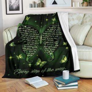 Blanket - Butterfly - I never left you - green ver@_weecreate4u_bustep@premium-blanket Blanket - Butterfly - I Never Left You - Green Ver Fleece Blanket, Personalized Gifts, Custom Blanket 582955