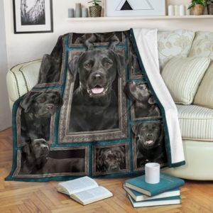 Blanket - Dogs - 3D Black labrador@_weecreate4u_bl3b@premium-blanket Blanket - Dogs - 3D Black Labrador Fleece Blanket, Personalized Gifts, Custom Blanket 582890