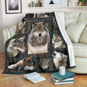 Blanket - Animals - 3D Wolf v2@_weecreate4u_wl3b@premium-blanket Blanket - Animals - 3D Wolf V2 Fleece Blanket, Personalized Gifts, Custom Blanket 582721