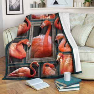 Blanket - Animals - 3D Flamingo@_weecreate4u_fla3b@premium-blanket Blanket - Animals - 3D Flamingo Fleece Blanket, Personalized Gifts, Custom Blanket 582629