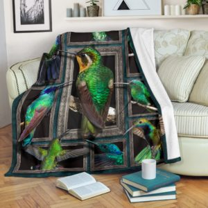 Blanket - Animals - 3D Hummingbird@_weecreate4u_hum3b@premium-blanket Blanket - Animals - 3D Hummingbird Fleece Blanket, Personalized Gifts, Custom Blanket 582616