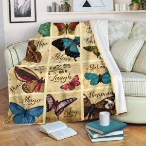 Blanket - Butterfly - Live Love Faith@_weecreate4u_faithh@premium-blanket Blanket - Butterfly - Live Love Faith Fleece Blanket, Personalized Gifts, Custom Blanket 582576