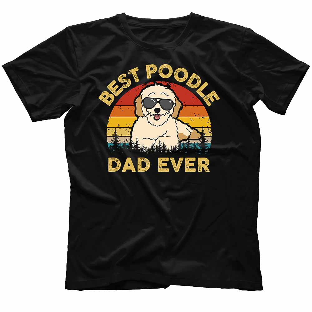 TS-M-Dog-DogDad2-poodle-39 Funny Best Poodle Dad Shirt. Dog Dad Shirt. Poodle T-shirt for Dog Lover & Dog Owner. Father's Day Gift for him. 579699