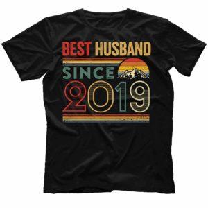 TS-M-Husband-BestHusbandS2-2019 1 Year First Anniversary Gift for Husband. Best Husband Since 2019 Shirt. Best Husband Ever. Dad T-shirt. Father's Day Gift. Gift for Him. 544262