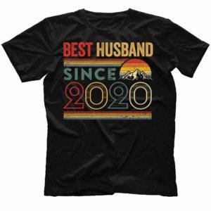 TS-M-Husband-BestHusbandS2-2020 1 Year First Anniversary Gift for Husband. Best Husband Since 2020 Shirt. Best Husband Ever. Dad T-shirt. Father's Day Gift. Gift for Him. 532672