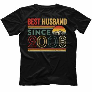 TS-M-Husband-BestHusbandS2-2006 14 Years Anniversary Gift for Husband. Best Husband Since 2006 Shirt. Best Husband Ever. Dad T-shirt. Father's Day Gift. Gift for Him. 501849