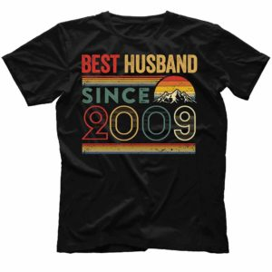 TS-M-Husband-BestHusbandS2-2009 11 Years Anniversary Gift for Husband. Best Husband Since 2009 Shirt. Best Husband Ever. Dad T-shirt. Father's Day Gift. Gift for Him. 493204
