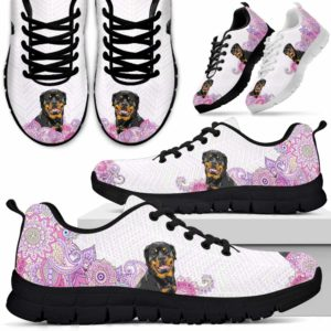 SS-W-Dog-PastelMandalaBack-Rottweiler-56@ Sneakers Pastel Mandala Back Rottweiler 56 Mens Womens Rottweiler Shoes. Rottweiler Dog Shoes for Men Women. Sneakers Gift for Dog Lovers. Pastel Mandala Dog Mom Dog Dad Custom Shoes. 619503