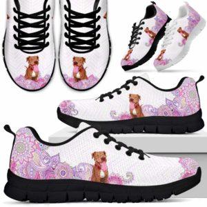 SS-W-Dog-PastelMandalaBack-Pit_Bull-43@ Sneakers Pastel Mandala Back Pit Bull 43 Mens Womens Pit Bull Shoes. Pit Bull Dog Shoes for Men Women. Sneakers Gift for Dog Lovers. Pastel Mandala Dog Mom Dog Dad Custom Shoes. 617704