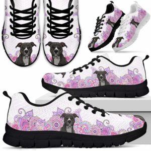 SS-W-Dog-PastelMandalaBot-Pit_Bull-41@ Sneakers Pastel Mandala Bot Pit Bull 41 Mens Womens Pit Bull Sneakers. Pit Bull Dog Shoes for Men Women. Gift for Dog Lovers. Pastel Mandala Dog Mom Dog Dad Custom Shoes. 616464