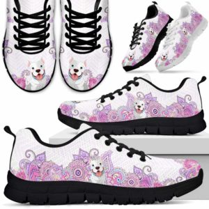 SS-W-Dog-PastelMandalaBot-Pit_Bull-60@ Sneakers Pastel Mandala Bot Vector Smart Object 60 Mens Womens Pit Bull Sneakers. Pit Bull Dog Shoes for Men Women. Gift for Dog Lovers. Pastel Mandala Dog Mom Dog Dad Custom Shoes. 616092