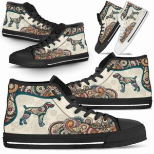 HTS-W-Dog-Mandala-Weimaraner-23@ High Top Mandala Weimaraner 23-Cute Mandala High Top Shoes for Dog Lovers. Weimaraner Shoes for Men Women. Weimaraner Dog Shoes. Dog Mom Dog Dad Custom Shoes.